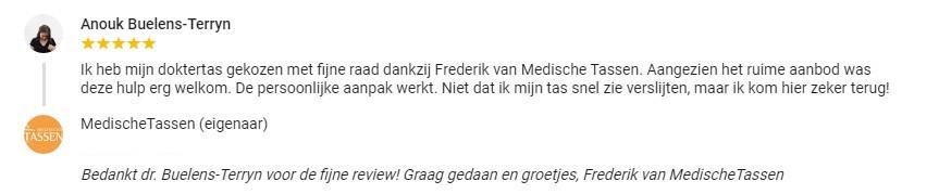 Klantenfeedback dr. Anouk Buelens-Terryn