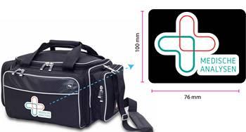 gepersonaliseerde verpleegtas met logo